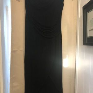Black cabi maxi skirt